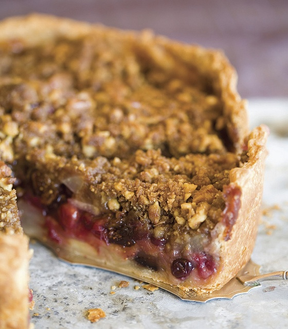 ... pie: deep dish winter fruit pie with walnut crumb, from 'rustic fruit