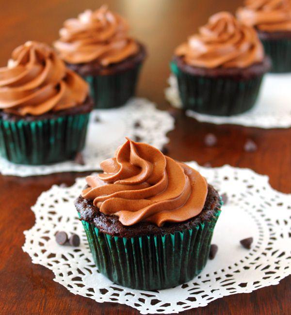 ... chocolate zucchini cupcakes , cream cheese frosting and zucchini
