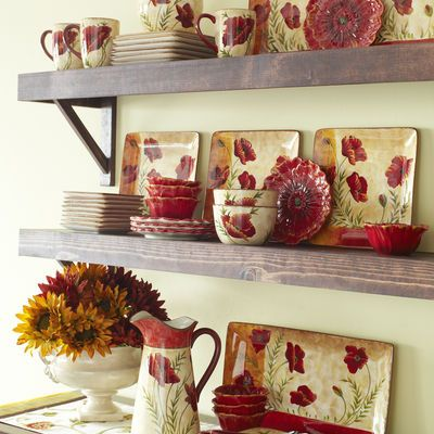 Poppies Dinnerware Pier 1 Decor Table Pinterest