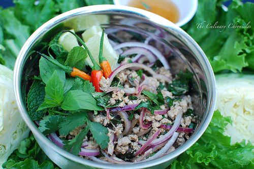 Isaan Pork Larb Gai Lettuce Wraps by The Culinary Chronicles, via ...