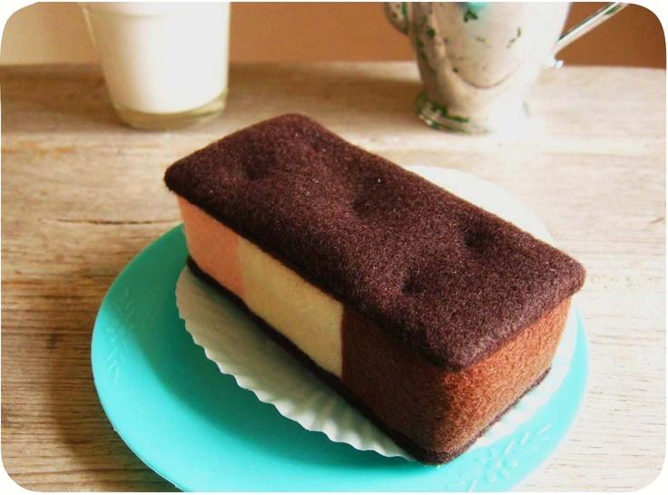 Neapolitan ice cream sandwich. | Delicious Felt Food | Pinterest