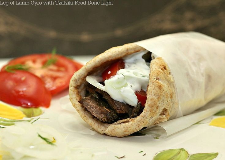 Leg of Lamb Gyro with Tzatziki Sauce www.fooddonelight.com