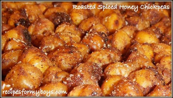 Roasted Spiced Honey Chickpeas...A Healthy Addictive Snack