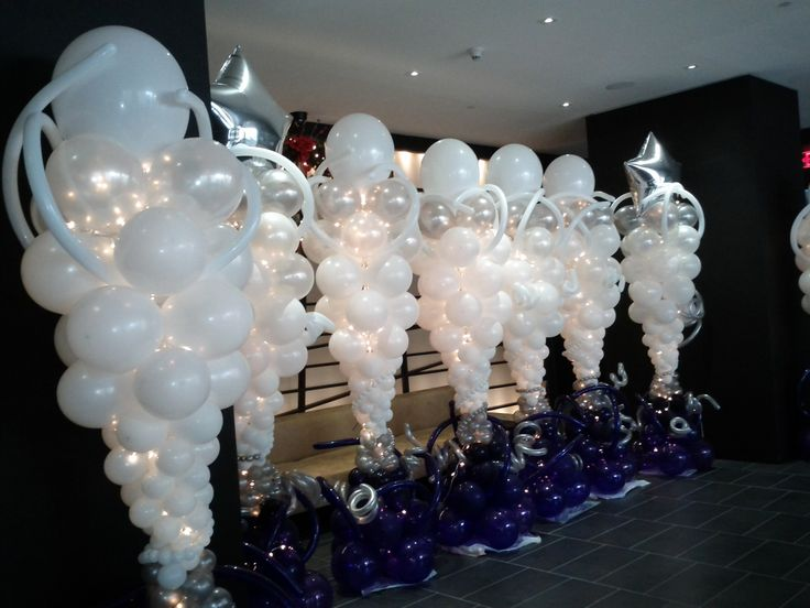 Pin by tarra bueche on party pinterest for Balloon column decoration