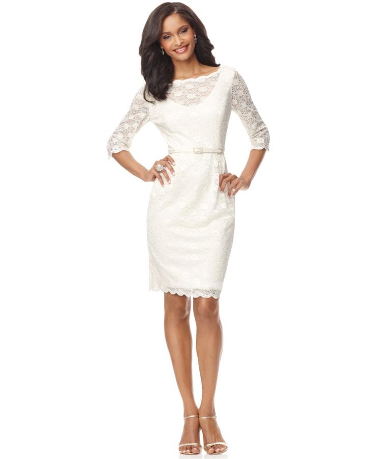 White dresses white dresses at macy 39 s for Macy black dress wear to wedding