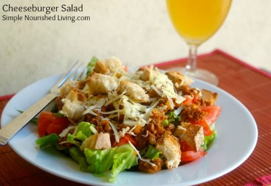 Cheeseburger Salad - 250 calories, 6 Weight Watchers Points Plus # ...