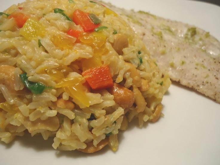 Orange Cashew Brown Rice | Rice Recipes | Pinterest