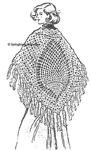 Crocheted Pineapple shawl