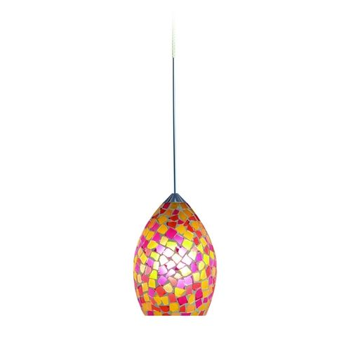 Modern low voltage mini pendant light with multi color glass - Colored glass pendant lights ...