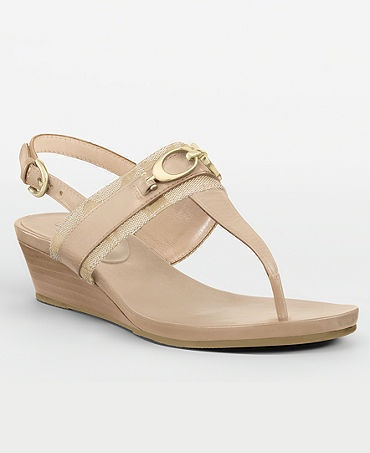$100 Coach Despina Wedge Sandals 6.5 *NEW*