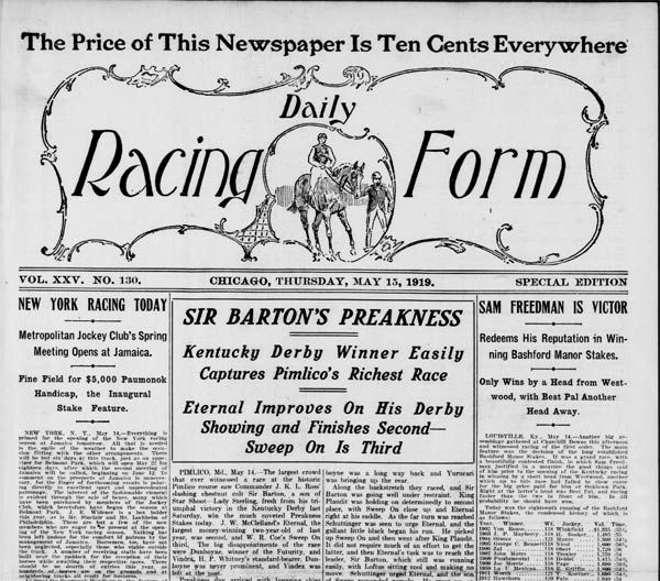 daily racing form thoroughbred horse racing global