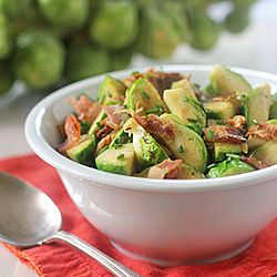 Brussels Sprouts with Bacon and HErbs | Eating on my day off | Pinter ...