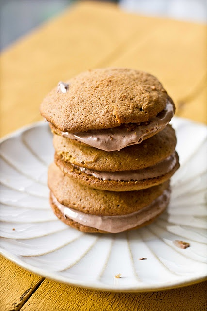 Pumpkin Maple Whoopie Pies with Chocolate Cream Cheese Filling