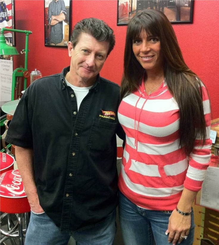 Mike Zarnock with Kelly Dale at Ricks Restorations.