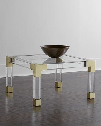 Picks 25 30 Off Jonathan Adler Lucite And Brass Coffee Table