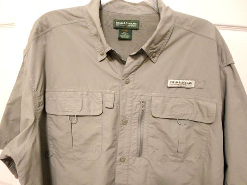 Lower price field and stream vented fishing xl short for Field and stream fishing shirts