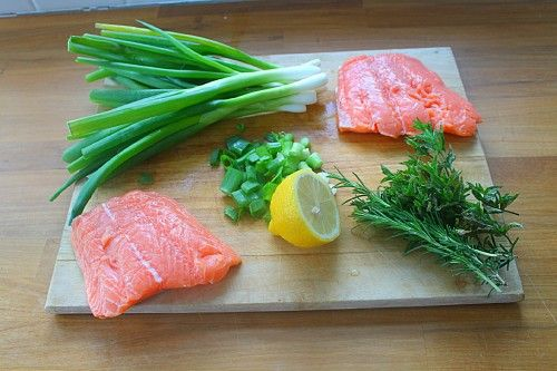 Slow Roasted Salmon with Herb Sauce | Food - Fish | Pinterest