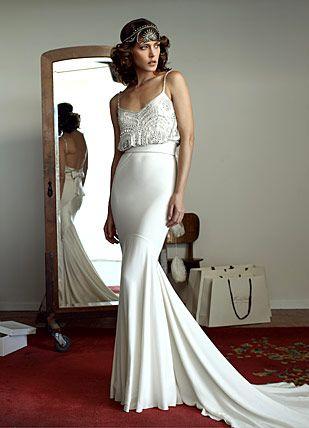 Maison bellaish art deco wedding dress for Art deco wedding dresses
