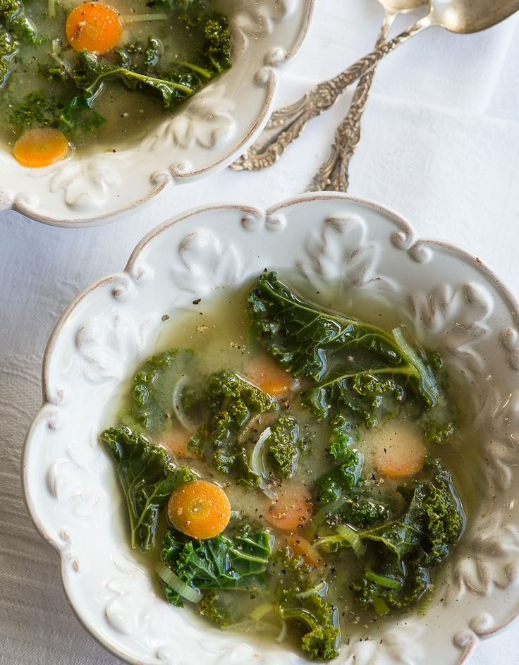Miso Ginger Kale Soup | Vegan (with a lil honey) | Pinterest