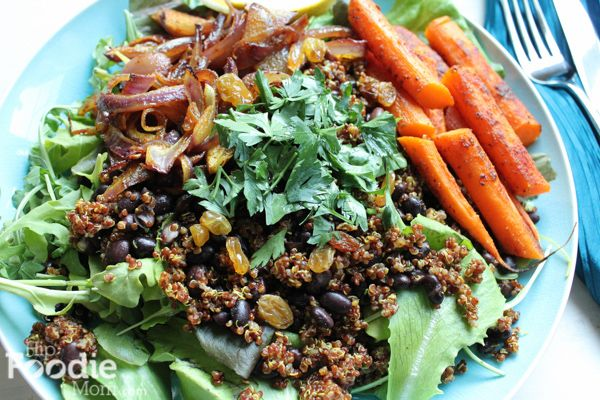Roasted Carrot and Red Quinoa Salad | Vegetables | Pinterest