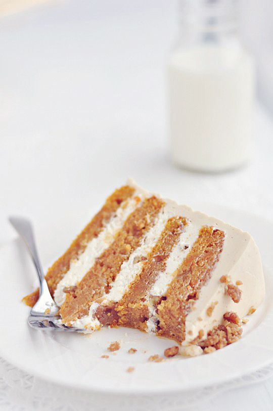 sweet potato layer cake with toasted marshmallow filling & brown sugar ...