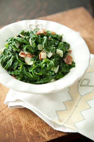 Paula+Deen+Corries+Bacon+Creamed+Spinach | Rica Comida ** | Pinterest