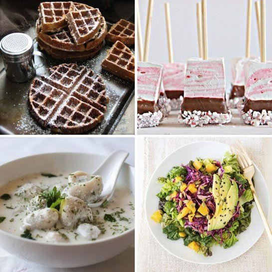 Gingerbread Waffles & Mango Purple Cabbage Salad — Delicious Links
