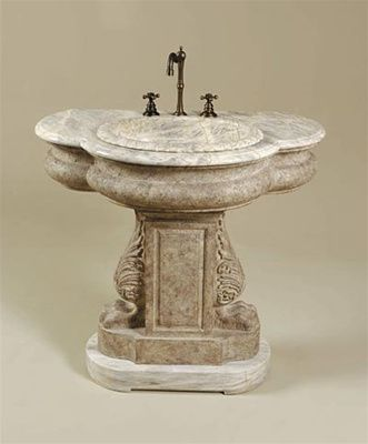 vanity #cabinet sink pedestal Beautiful Bathrooms Pinterest