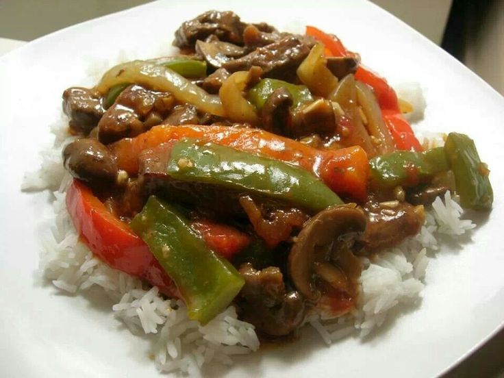 spicy pepper steak and Rice | Soul food a southern things | Pinterest