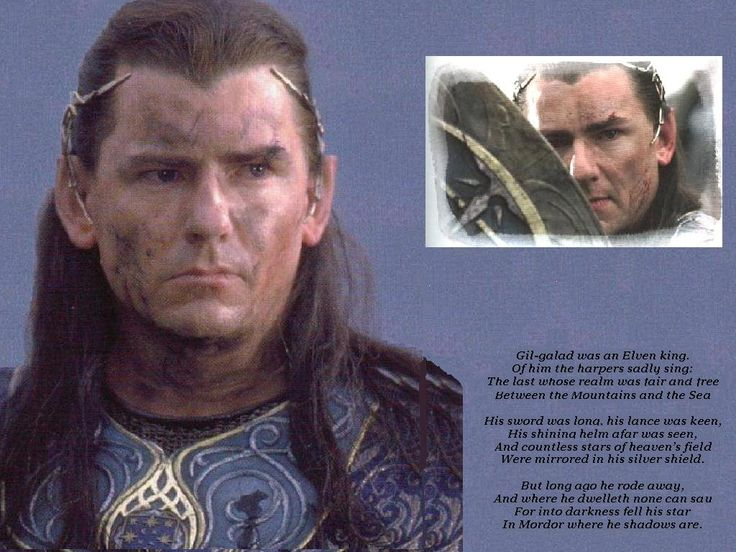 Gil Galad The Hobbit Amp Lord Of The Rings Pinterest