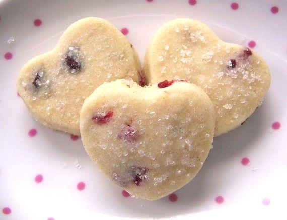 Cranberry Walnut Shortbread Cookies - 3 Dozen MINI Hearts - Sweet Gou ...