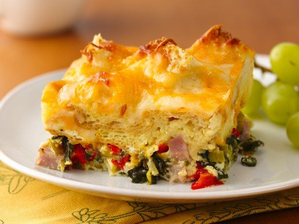 Ham, Spinach and Cheese Strata | Recipe