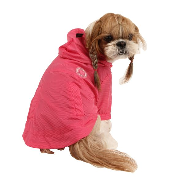 Wind Breaker Dog Raincoat by Puppia - Hot Pink at Baxterboo