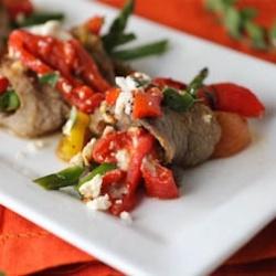 Pan Seared Greek Steak Rolls recipe