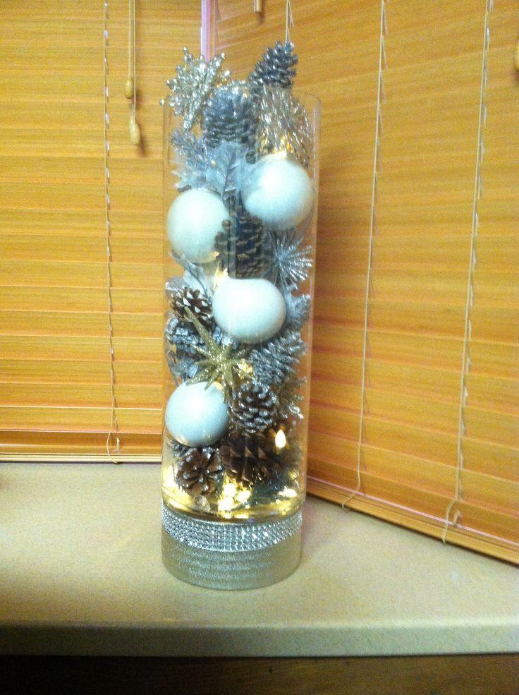 Diy Decorative Christmas Vase Decor Pinterest
