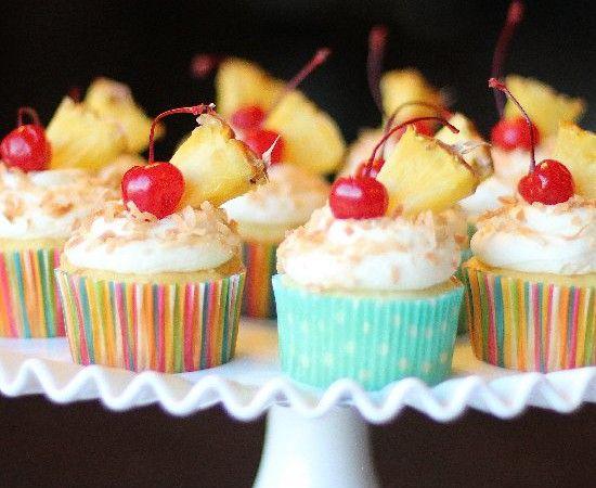 Pina Colada Cupcakes Kiwi Frosting Recipes — Dishmaps