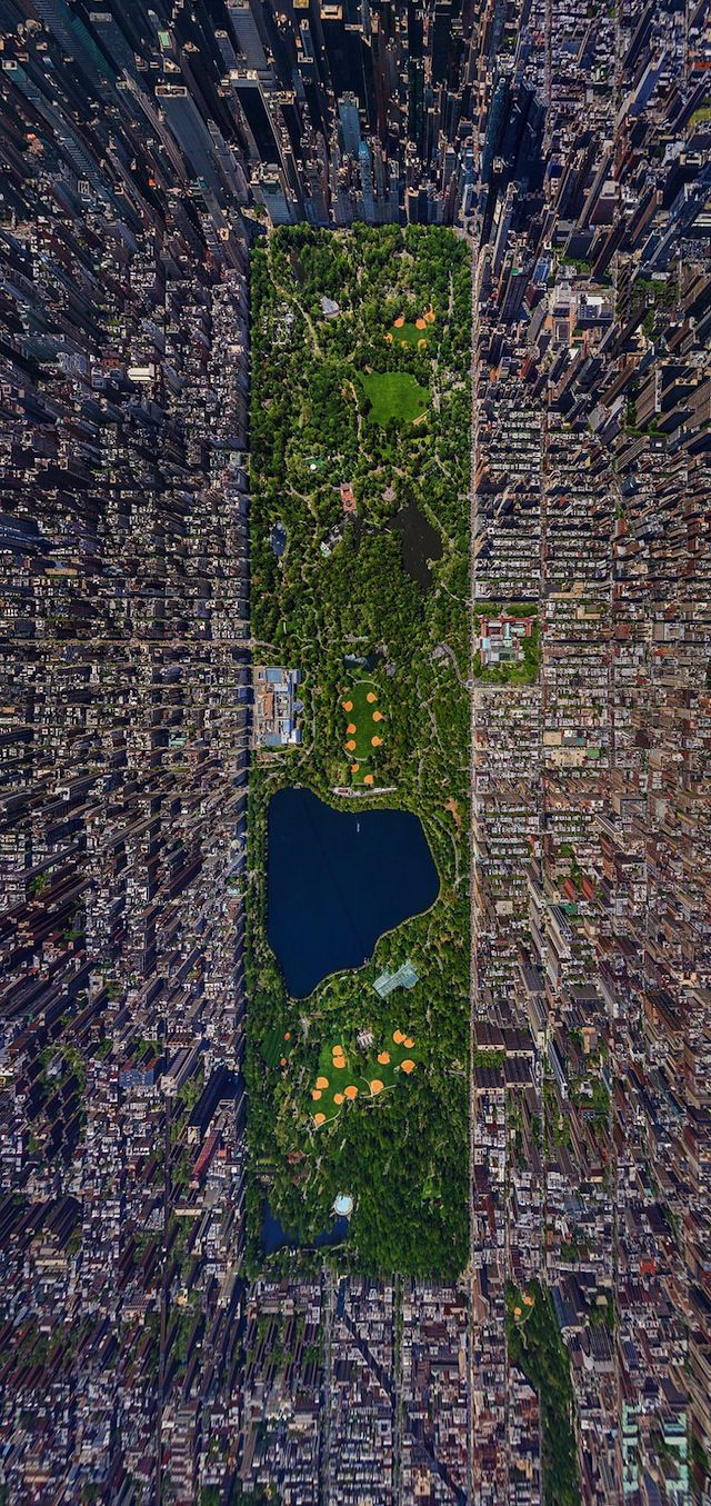 ...Looking at photos like this makes my problems seem not so big. --Pia (Cool photo.  New York Citys Central Park from Above)