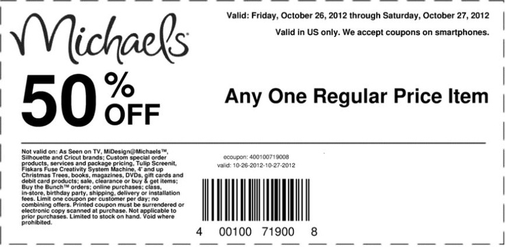 50 off michaels coupon august 2018