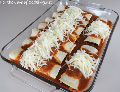 ... of Cooking » Shredded Beef Enchiladas with Homemade Enchilada Sauce