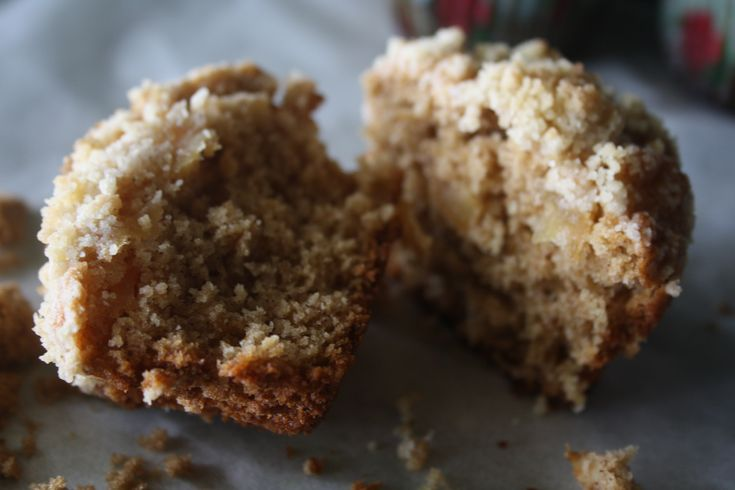 Spiced Caramelised Apple Muffins with Streusel Topping