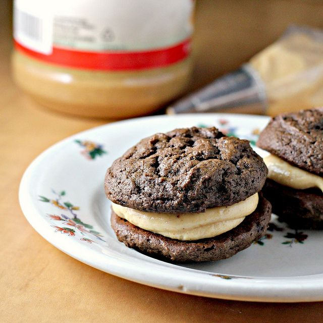 peanut butter whoopie pies. It's like a Reese's peanut butter ...