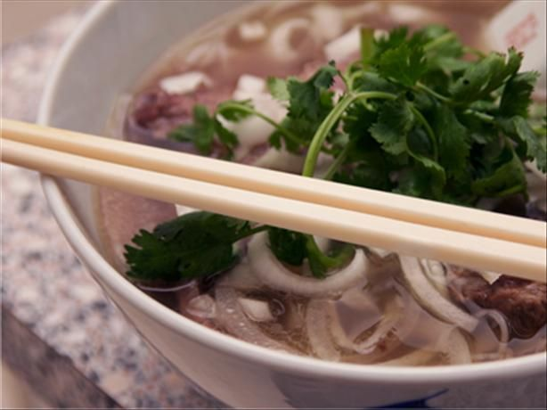 Vietnamese beef and rice noodle soup (pho) | Recipe
