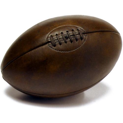 Ballon de rugby en cuir retro wishlist pinterest - Ballon de rugby cuir ...