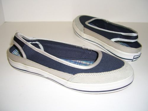 Easy Spirit Womens Shoes Navy Multi Flats Slings Size 6