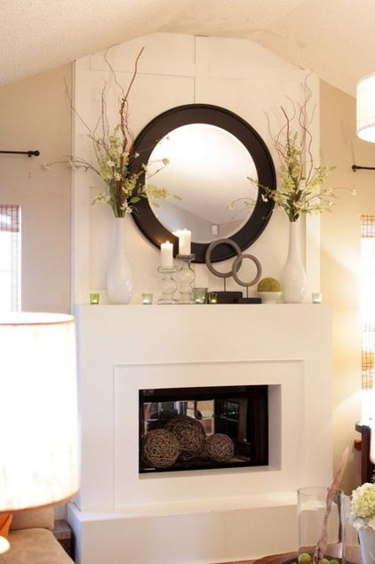 Eclectic Spring Mantle Fireplace Mantle Decorating Ideas