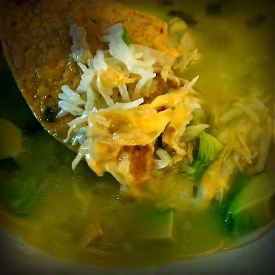 Our Little Coop: Crock Pot Green Chile Chicken and Lime Soup