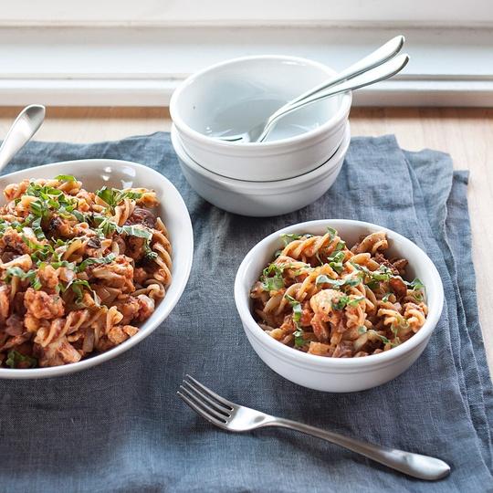 Recipe: Pan-Roasted Cauliflower & Pasta with Tomato-Cream Sauce ...