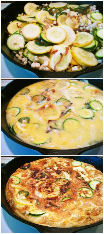 Spicy Zucchini Frittata recipe | Yummy for my tummy | Pinterest
