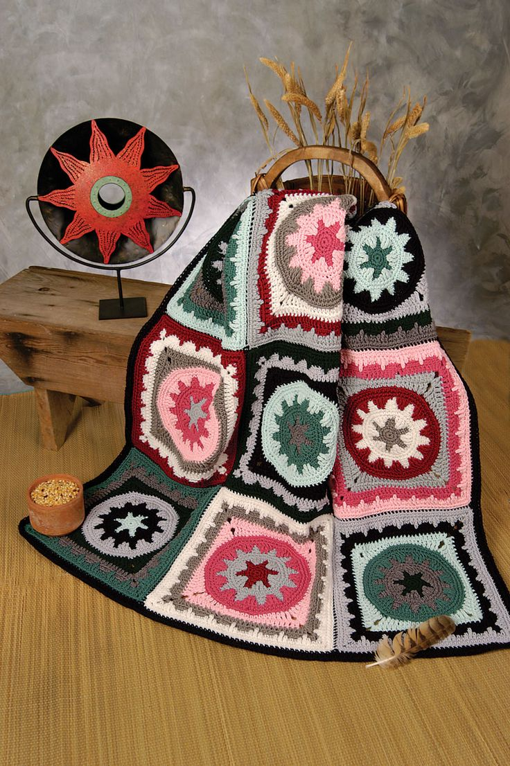Crocheted Aztec Medallions Afghan Pattern