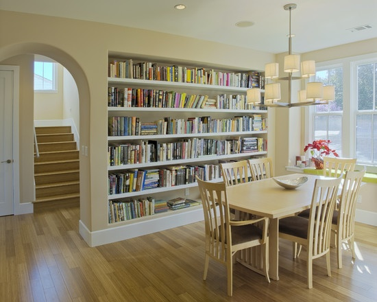 Very small very tight dining library combo dining rooms for Very small dining room ideas